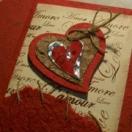 Cartões comemorativos de papel reciclado artesanal
