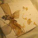 Convites de papel reciclado artesanal